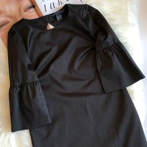 French Connection Black Bell Sleeve Mini Dress 4